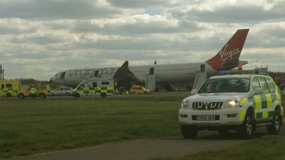 Emily Alner sent ITV News an image of the plane after she was evacuated