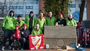 96 mile charity run for the Hillsborough 96