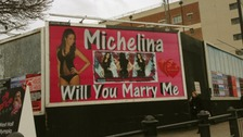 The billboard proposing marriage
