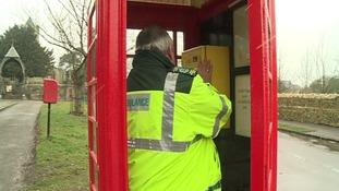 Rutland phone box fitted with defibrillator