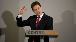 Deputy Prime Minister Nick Clegg pictured making a speech on immigration in London last month.