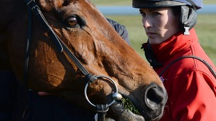 Katie Walsh with her Grand National mount Seabass.