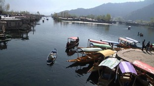 Dal Lake in Srinagar, Kashmir