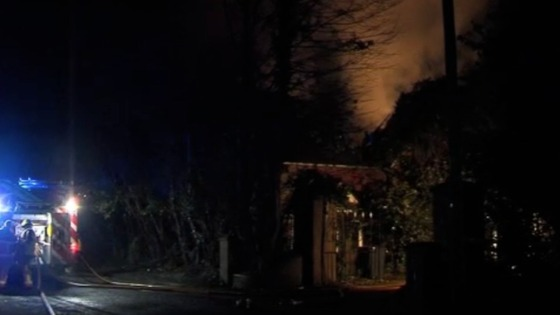 House fire at Copthorne