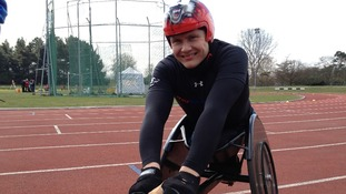 The six-time Paralympic champion at the launch in Kingston