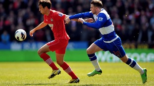 Southampton's Steve Davis and Reading's Danny Guthrie