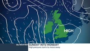 Pressure and winds for Sunday into Monday.