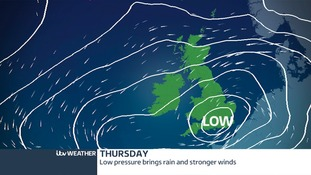 pressure and winds for Thursday
