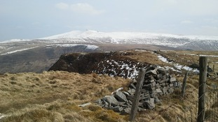 Snow on Welsh mountains