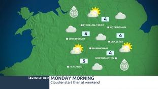 Monday morning weather