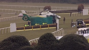 Mania was conscious following the fall and was put into the air ambulance on a spinal board