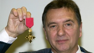 Chef Raymond Blanc receiving his OBE in 2008