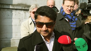 Praveen Halappanavar outside Galway Coroners court in Ireland this morning.