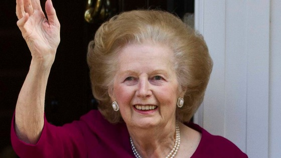 Baroness Margaret Thatcher pictured outside her London home in November 2010