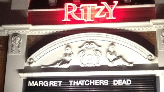 The lettering at the Ritzy cinema was rearranged by protesters