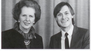 David Amess with Baroness Thatcher