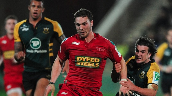 George North playing for Swansea