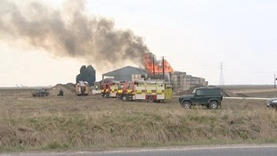 Fire at farm in Wisbech