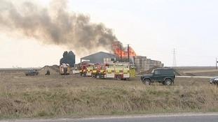 Fire at farm in Wisbech