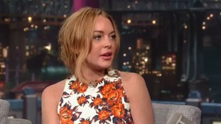 Lindsay Lohan appeared shocked during her grilling by David Letterman