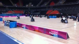 The Olympic basketball arena.