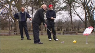 Micky Horswill playing for the Sunderland golf team