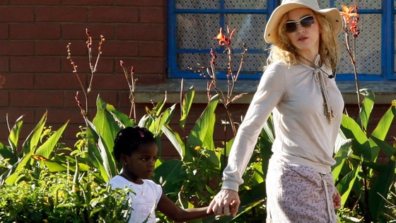Madonna pictured with her adopted daughter Mercy in Malawi in 2010