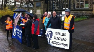 Halifax teachers' picket line