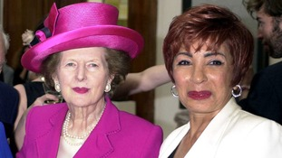 Baroness Thatcher and Dame Shirley Bassey