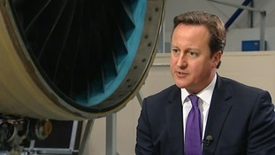 Prime Minister David Cameron, speaking to ITV News presenter Julie Etchingham