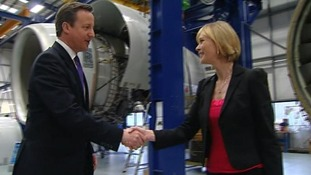 Prime Minister David Cameron and ITV News Presenter Julie Etchingham
