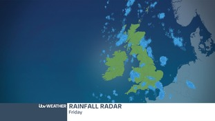 Heavy showers will extend North-East tomorrow