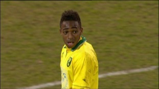 Reece Hall-Johnson, who scored Norwich's first leg winner against Nottingham Forest in the FA Youth Cup semi-finals