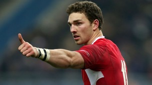 Wales winger George North, who is joining Northampton Saints in the summer