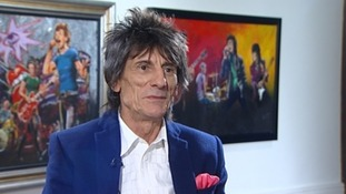 Rolling Stone Ronnie Wood unveils latest art exhibition