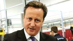 Prime Minister David Cameron pictured earlier today.