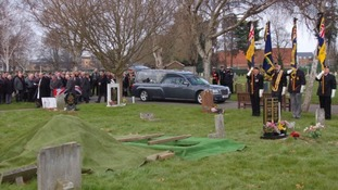 The Reverend Bob Mason at the funeral of former Royal Marine James McConnell.