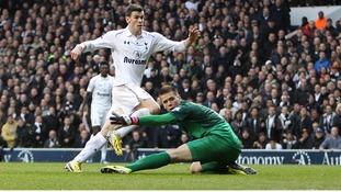 Gareth Bale scoring the opening goal