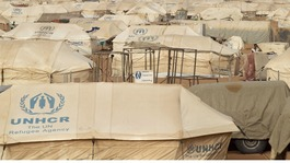 The Mbera refugee camp in Mauritania, which has been inundated by refugees fleeing Northern Mali.