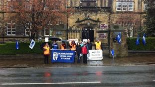 Calderdale teaching staff strike
