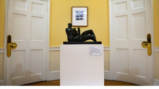 The Moore Alcove, where Lady Thatcher arranged to show a rotating selection of great British sculptures.