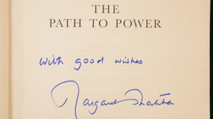 A signed Baroness Thatcher autobiography.
