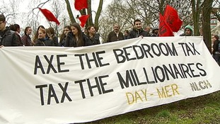 Campaigners protesting against benefit reforms