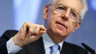 Italy's interim Foreign Minister Mario Monti made the announcement today.