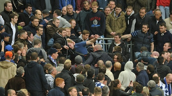 All the violence at Wembley involved supporters of the same club