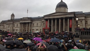 Protesters chanted anti-Thatcher slogans