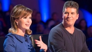 Britain's Got Talent judges Amanda Holden and Simon Cowell.