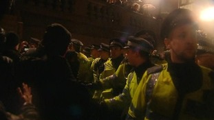 Millwall fans were said to have joined protests in central London