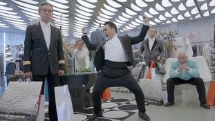 Psy performing a typically hip-swinging dance in the video for Gentleman, which has been viewed nearly 14 million times on YouTube.
