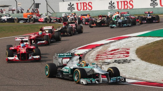 Hamilton started the race from pole